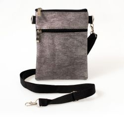 24 Units of 7 Inch Crossbody Bags 3 In 1 With 2 Zippered Pockets In 4 Assorted Metallic Colors - Shoulder Bags & Messenger Bags