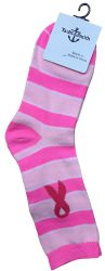 360 Units of Pink Ribbon Breast Cancer Awareness Crew Socks For Women - Breast Cancer Awareness Socks
