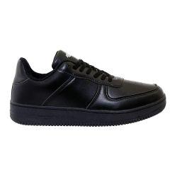 12 Units of Men's Casual Low Top Sneakers In Solid Black - Men's Sneakers