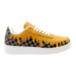 12 Units of Men's Brown Checkered Drip Casual Sneakers - Men's Sneakers