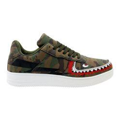 12 Units of Men's Camo Shark Casual Sneakers - Men's Sneakers