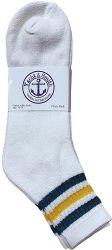 48 Units of Yacht & Smith Men's King Size Premium Cotton Sport Ankle Socks Size 13-16 With Stripes - Big And Tall Mens Ankle Socks