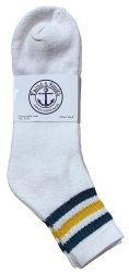 36 Units of Yacht & Smith Men's King Size Cotton Sport Ankle Socks Size 13-16 With Stripes - Big And Tall Mens Ankle Socks