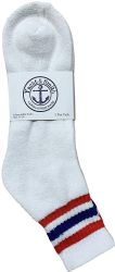 120 Units of Yacht & Smith Men's King Size Cotton Sport Ankle Socks Size 13-16 With Stripes - Big And Tall Mens Ankle Socks