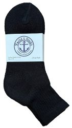 60 Units of Yacht & Smith Women's Premium Cotton Ankle Socks Black Size 9-11 - Womens Ankle Sock