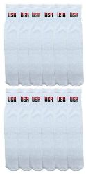 12 Units of Yacht & Smith King Size Men's 31 Inch Terry Cushion Cotton Extra Long Usa Tube SockS- Size 13-16 - Big And Tall Mens Tube Socks