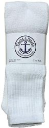 120 Units of Yacht & Smith Men's 32 Inch Premium Cotton King Size Extra Long White Tube Socks- Size 13-16 - Big And Tall Mens Tube Socks