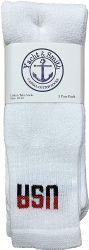 240 Units of Yacht & Smith Women's Cotton Usa Tube Socks, Referee Style Size 9-15 - Women's Tube Sock