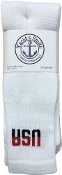 24 Units of Yacht & Smith Women's Cotton Usa Tube Socks, Referee Style Size 9-15 - Women's Tube Sock