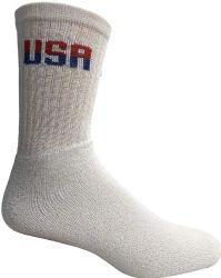 72 Units of Yacht & Smith Mens Wholesale Bulk Cotton Socks, Athletic Sport Socks Shoe Size 8-12 (White USA, 72) - Mens Crew Socks