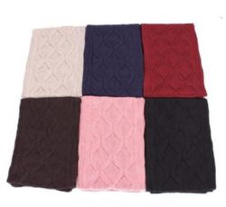 48 Units of Women's Cable Knit Scarf - Winter Scarves