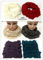 24 Units of Diamond Pattern Infinity Scarf - Winter Scarves
