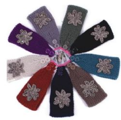 120 Units of Warm Winter Rhinestone Head Band - Ear Warmers
