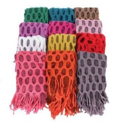 60 Units of Women's Fringe Infinity Scarf - Winter Scarves