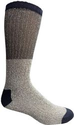 36 Units of Yacht & Smith Mens Cotton Thermal Crew Socks, Cold Weather Boot Sock Shoe Size 8-12 - Mens Thermal Sock