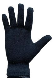 36 Units of Yacht & Smith Black Magic Stretch Gloves Bulk Thermal Winter Gloves Solid Black - Knitted Stretch Gloves