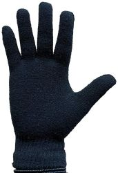 120 Units of Yacht & Smith Black Magic Stretch Gloves Bulk Thermal Winter Gloves Solid Black - Knitted Stretch Gloves