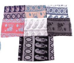 72 Units of Women's Paisley Print Light Weight Infinity Scarf - Womens Fashion Scarves