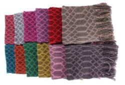 72 Units of Women's Assorted Color Knitted Infinity Scarf - Womens Fashion Scarves