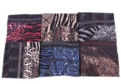 72 Units of Women's Wild Animal Print Infinity Scarf - Womens Fashion Scarves