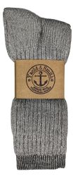 12 Units of Yacht & Smith Mens Terry Lined Merino Wool Thermal Boot Socks - Mens Thermal Sock