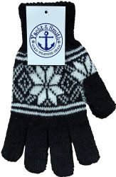 48 Units of Yacht & Smith Winter Beanies & Gloves For Men & Women, Warm Thermal Cold Resistant Bulk Packs (48 PACK SNOW WOMENS) - Knitted Stretch Gloves
