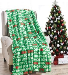 24 Units of Assorted Christmas Prints Fleece Blankets Size 50 X 60 - Fleece & Sherpa Blankets