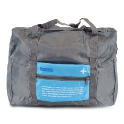 """24 Units of 17"""" Lightweight Foldable Bulk Tote Bags In Blue - Tote Bags & Slings"""