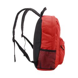 "24 Units of 18"" Classic Red Backpacks With Side Mesh Water Bottle Pocket - Backpacks 18"" or Larger"