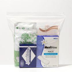 48 Units of 7 Piece Feminine Hygiene Kits - First Aid and Hygiene Gear