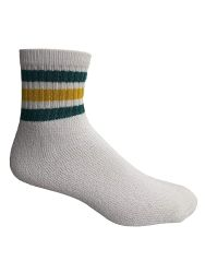 240 Units of Yacht & Smith Wholesale Bulk Womens Mid Ankle Socks, Cotton Sport Athletic Socks - Size 9-11, (White with Stripes, 240) - Womens Ankle Sock