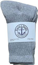 120 Units of Yacht & Smith Wholesale Kids Crew Socks, With Free Shipping Size 6-8 (gray) - Boys Ankle Sock