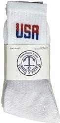 240 Units of Yacht & Smith Men's Wholesale Bulk Cotton Socks, With Free Shipping Size 10-13 (White USA) - Mens Crew Socks