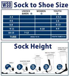 12 Units of Yacht & Smith Kids Cotton Crew Socks With Gray Heel And Toe Size 6-8 - Girls Crew Socks