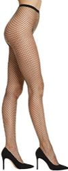 3 Units of Yacht & Smith Women's Fishnet Pantyhose, High Waisted Mesh Stockings, Black, Queen Size - Womens Pantyhose
