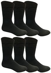 6 Units of Yacht & Smith Mens Tube Socks, Comfortable Cotton Blend Size 10-13 - Mens Tube Sock
