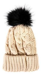 8 Units of Socksnbulk Value Pack Of Winter Beanie With Pom Pom, Assorted (8 Pack Solids With Faux Fur) - Winter Beanie Hats