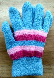 12 Units of Yacht & Smith Women's Striped Soft Fuzzy Winter Gloves - Fuzzy Gloves