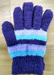 6 Units of Yacht & Smith Women's Striped Soft Fuzzy Winter Gloves - Fuzzy Gloves