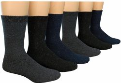 12 Units of Yacht & Smith Mens Heavy Duty Wool Blend Winter Warm Work Socks - Mens Thermal Sock