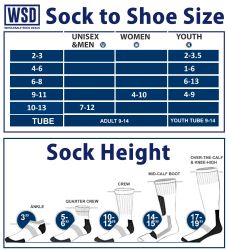 6 Units of Yacht & Smith Men's Cotton Terry Tube Socks, 30 Inch Referee Style, Size 10-13 White With Stripes - Mens Tube Sock