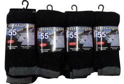 12 Units of Yacht & Smith Mens Thermal Tube Socks, Sock Size 10-13 - Mens Thermal Sock