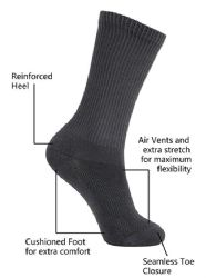 60 Units of Yacht & Smith Kids Cotton Crew Socks Black Size 6-8 - Girls Crew Socks