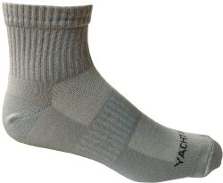 6 Units of Yacht & Smith Mens Short Crew Socks, Patterned Sports Sock, Mesh Top - Mens Ankle Sock