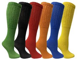 36 Units of Yacht & Smith Slouch Socks For Women, Assorted Colors Size 9-11 - Womens Crew Sock - Womens Crew Sock