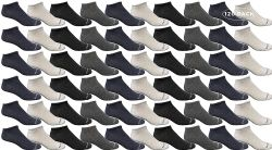 120 Units of Yacht & Smith Wholesale Men's Cotton Shoe Liner Training Socks Size 10-13 (assorted, 120) - Mens Ankle Sock