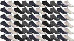 72 Units of Yacht & Smith Wholesale Men's Cotton Shoe Liner Training Socks Size 10-13 (assorted, 72) - Mens Ankle Sock
