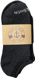48 Units of Yacht & Smith Kids 97% Cotton Light Weight No Show Ankle Socks Solid Navy Size 6-8 - Girls Ankle Sock