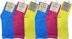 6 Units of Yacht & Smith Women's Cotton Pedicure Socks, Open Toe Flip Flop Socks, Sock Size 9-11 - Womens Ankle Sock