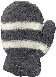 12 Units of Yacht & Smith Kids Striped Fuzzy Winter Mittens Gloves Ages 2-7 - Winter Gloves
